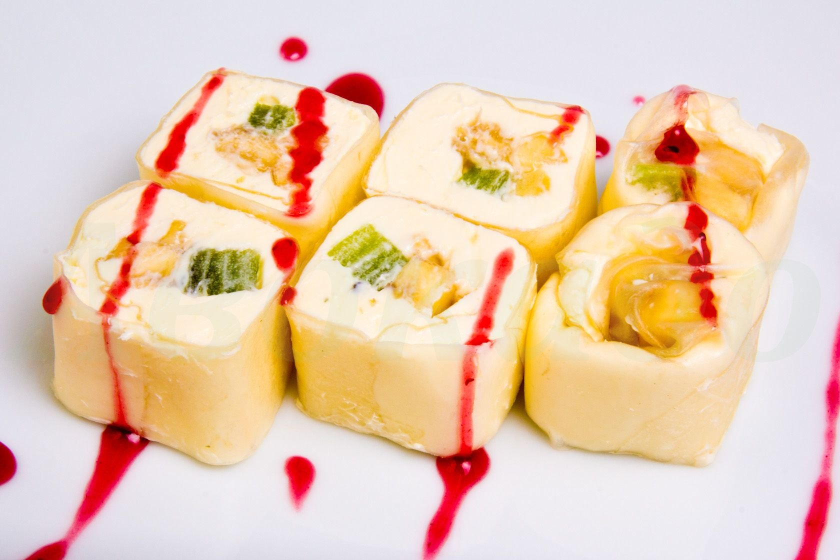 Сладкие роллы из блинов рецепт пошагово